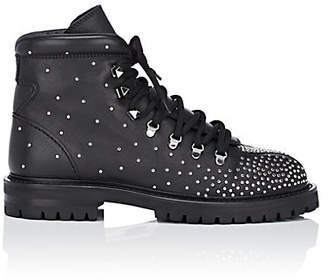 Valentino Women's Rockstud Quilted Leather Combat Boots - Black