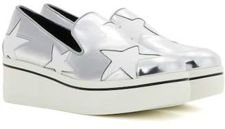 Stella McCartney Star Binx metallic platform loafers