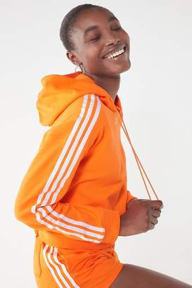 adidas Adicolor 3 Stripes Cropped Hoodie Sweatshirt