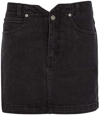 Free People She's All That Black Denim Mini Skirt