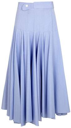 Loewe Pinstriped Belted Cotton Skirt