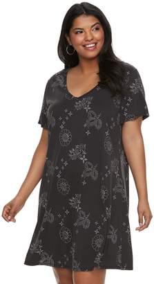 Mudd Juniors' Plus Size T-Shirt Dress
