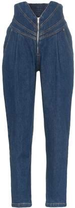 ATTICO V-waist tapered jeans