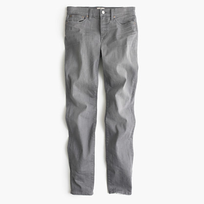 """J.Crew9"""" Lookout High-Rise Jean In Grey"""