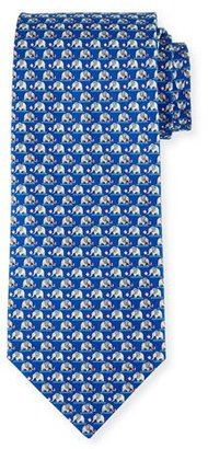 Salvatore Ferragamo Elephant & Cotton Candy Silk Tie $190 thestylecure.com