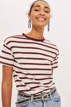Topshop PETITE Bold Striped Marl T-Shirt