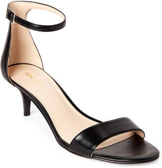 Nine West Black Leisa Leather Ankle Strap Sandals