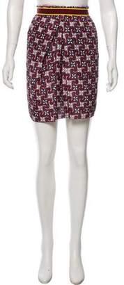 Marni Silk Printed Mini Skirt