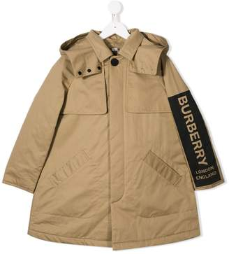Burberry concealed front coat