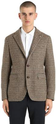 Tagliatore Wool Houndstooth Jacket