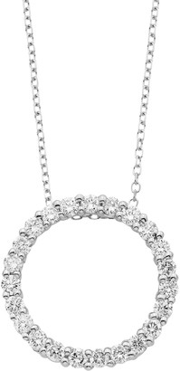 14k Gold 1/2 Carat T.W. IGL Certified Diamond Circle Pendant Necklace