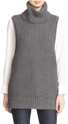Women's Autumn Cashmere Lace Up Sleeveless Turtleneck Sweater $374 thestylecure.com
