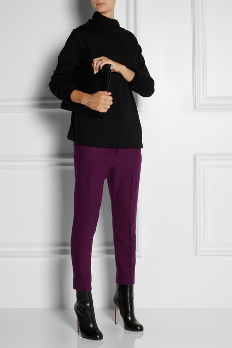 Haider Ackermann Cropped wool-blend pants