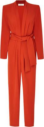 A.L.C. Kieran Belted Crepe Jumpsuit