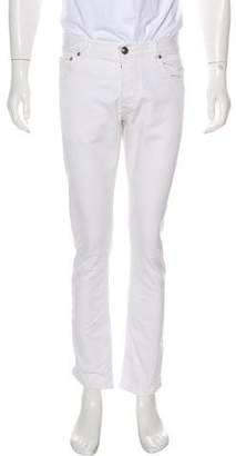 Isaia Twill Slim-Fit Jeans w/ Tags