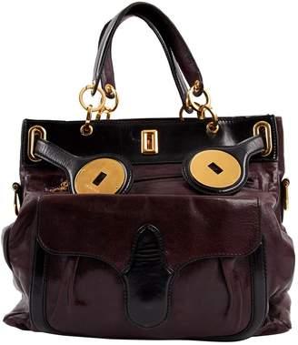 Balenciaga Burgundy Leather Handbag