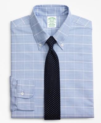 Brooks Brothers Original Polo Button-Down Oxford Milano Slim-Fit Dress Shirt, Glen Plaid