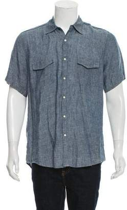Steven Alan Linen Snap Front Shirt