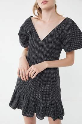 Keepsake Mercy Dotted Puff Sleeve Dress