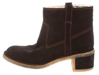 Chanel CC Suede Ankle Boots Black CC Suede Ankle Boots