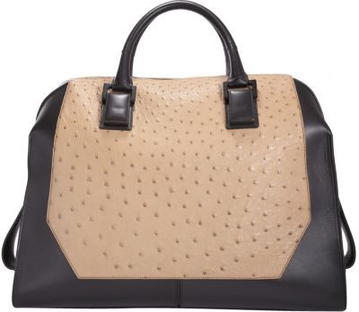 Narciso Rodriguez Ostrich Large Bowler Tote