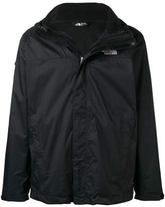 The North Face zipped up wind breaker