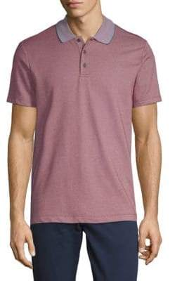 Perry Ellis Jacquard Short-Sleeve Polo
