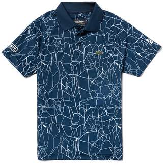 Lacoste Boys' SPORT Print Technical Jersey Polo- x Novak Djokovic Off Court Premium Edition