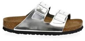 Birkenstock Arizona Metallic Double-Strap Slides