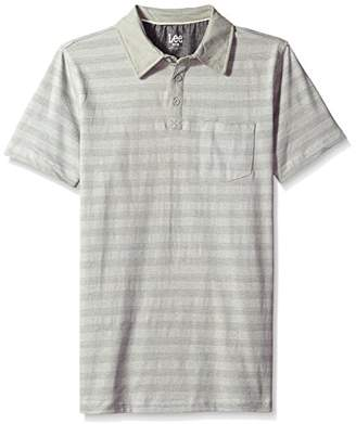 Lee Men's Short Sleeve Striped Polo Shirt