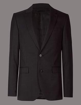 Marks and Spencer Charcoal Tailored Fit Italian Wool Jacket
