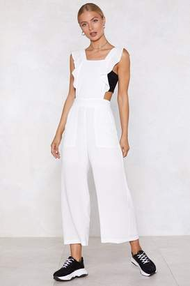 Nasty Gal The Overall Winner Ruffle Overalls