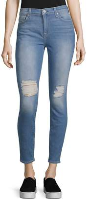 7 For All Mankind Women's Classic Distressed Ankle Jeans