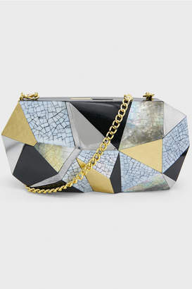 Rafe New York Motley Vivienne Faceted Minaudiere Clutch