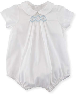 Luli & Me Bubble Playsuit w/ Embroidery, Size 3-9 Months