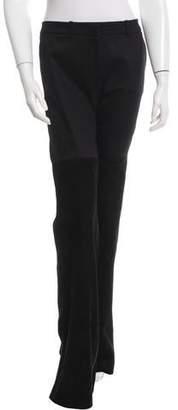 Rachel Zoe Suede-Trimmed Wide-Leg Jeans w/ Tags