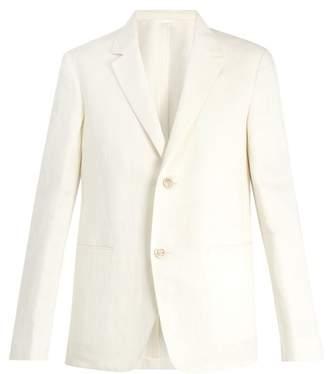 Berluti - Single Breasted Linen Blend Jacket - Mens - White