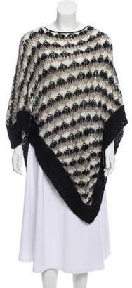 Missoni Patterned Open Knit Poncho