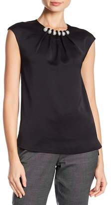 Ted Baker Imitation Pearl Accented Sleeveless Blouse