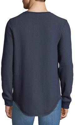 DKNY Men's Long-Sleeve Waffle-Knit Tee