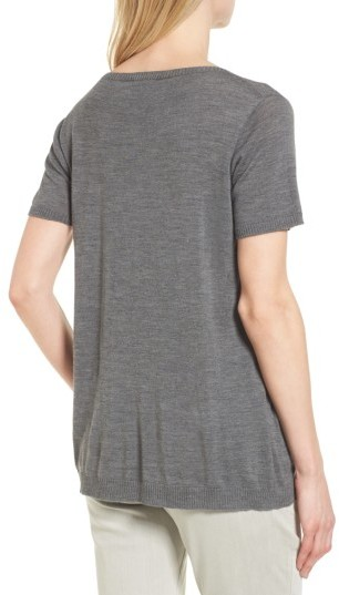 Women's Eileen Fisher Merino Wool Tee 4