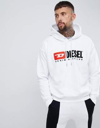 Diesel S-Division industry logo hoodie white