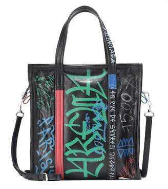 Balenciaga Graffiti Bazar S leather shopper