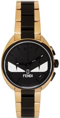 Fendi Gold & Black Momento Bugs Watch $1,695 thestylecure.com