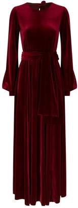 Luisa Beccaria Velvet Keyhole Gown