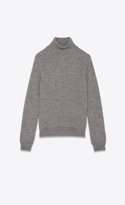 b5dcaf854c67c3 Saint Laurent Knitwear Tops Turtleneck Sweater In Cashmere And Mohair Grey  Rinse L