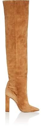 Saint Laurent Women's Suede Knee Boots
