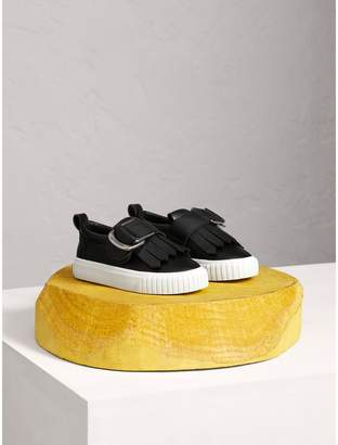 Burberry Fringed Buckle Detail Trainers