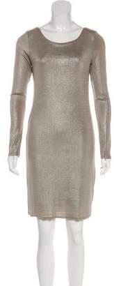Alice + Olivia Long Sleeve Metallic Dress