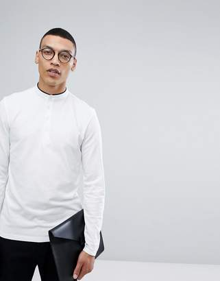 Selected Long Sleeve Grandad Top